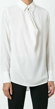 Vince Off White Silk Draped Blouse NWT RRP £241(Lacommode)