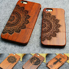 Natural Wooden Wood Bamboo Phone Case Cover For iPhone 6 6s/ Plus 5/5s SE