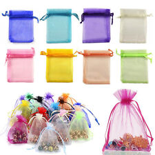 100pcs Luxury Jewellery Pouches Packing Organza Gift Bags Wedding Party Favour