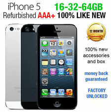 Original Apple iPhone 5 GSM Factory Unlocked Black White 16gb 32gb 64gb LIKE NEW