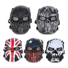 Airsoft Paintball Tactical Full Face Protection Skull Mask Army Outdoor