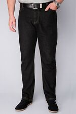 BadRhino Black Stonewash Denim Straight Leg Stretch Jeans - TALL 34-54 2 Lenghts