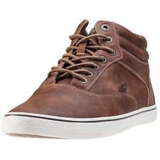 Mustang Hi Top Mens Trainers Brown New Shoes