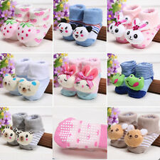 0-12 Months Baby Girls Boy Anti Slip Cotton Socks Cute Shoes Cartoon Ankle Socks
