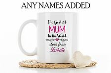 Personalised Best Mum Mummy Mom Mommy Mug Cup Coaster Christmas Birthday Gift