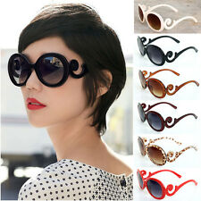 Hot UV400 Retro Fashion Women's Vintage Oversized Flower Frame Sunglasses Shades