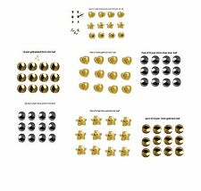 12 Pair  Ear Piercing Studs Regular-Mini Various Shape Size Sterile Pack Caflon