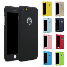 Hybrid 360°Hard Case + Tempered Glass Cover For New Apple iPhone 7 6 6S Plus
