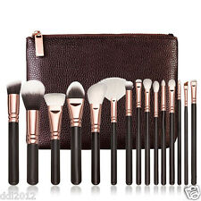 15Pcs Rose Golden Makeup Cosmetic Complete Eye Set Power Brushes With Package