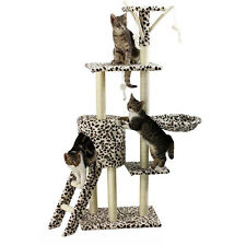 "54"" Cat Tree Tower Climbing Frame Furniture Scratching Tree Post Pet Play House"