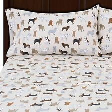Mainstays Flannel Sheet Sets Dogs (King, Queen, Full) soft and cozy 4 pieces
