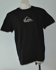 Quiksilver Mens Printed T Shirt - BLACK - SIZE - LARGE  - NEW