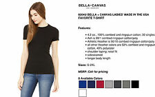 NEW 6004U Bella + Canvas Ladies' Made in the USA Favorite T-Shirt S-2XL