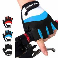 Half Finger Racing Motorcycle Gloves Cycling Bicycle Bike Riding Gloves F7U9