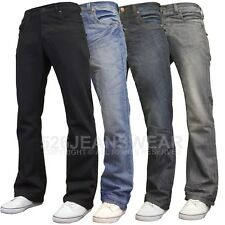 "APT Mens Designer Branded Basics Regular Fit Bootcut Jeans, 28""-48"" BNWT"