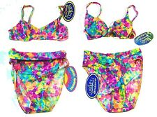 Sunsets Multicolor Watercolor Floral Bikini Separates NWT Sz S,M