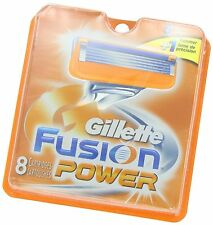 8 Replacement Men Shaving Razor Blade Blades Gillette Fusion Power
