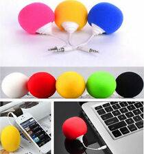 Speaker Music MP3 Mini iPod Sponge Ball Cell Phone PC iphone Portable 5.5mm