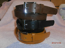 """IDEAL GIFT MENS BLACK BROWN TAN 28 m/m SMOOTH FINISH TROUSER LEATHER BELT 32-48"""""""