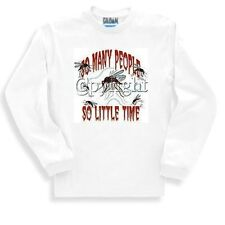 Novelty Sweatshirt Funny So Many People So Little Time Mosquito