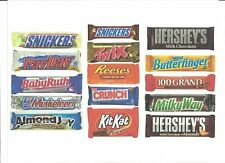 Five Popular Brand Name Candy Bars in 20 Packs