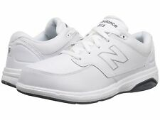NEW MENS NEW BALANCE MW813 White Leather LACE UP ATHLETIC WALKING SHOES NIB