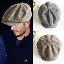 Mens Womens Flat Cap Baker Boy Cap Peaked NewsBoy Country Outdoors Golf Hat MD