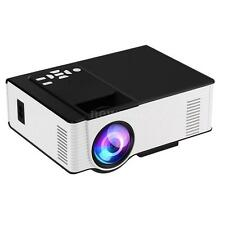 "180"" Portable 1500Lumens HD LED/LCD Projector Home Theater 1080P 3D USB HDMI VGA"