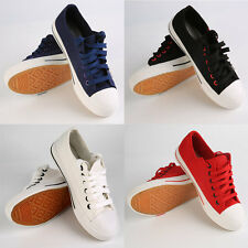 4 Colors Canvas Women Lace-up Side Zipper Help Low Flat Casual Shoes 36-40 IB