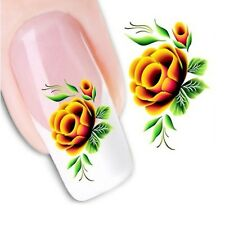 Water Transfer Nail Stickers Decals DIY Flower Art Decoration Fingernail Beauty