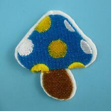 Mushroom Polka Dot Motif Iron Sew on Patch Applique Badge Embroidered Cute Baby