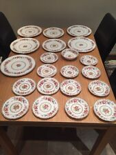 Royal Grafton Fine China Vintage Plate Set 27 Pieces Malvern With Egg Cups
