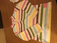 Girls Joules pink green blue Striped Top Jumper age 9 to 10yrs Mint