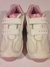 NWOB STRIDE RITE YOUTH GIRL'S MULTIPLE SIZES TRINITY WHITE PINK TENNIS SHOES 301