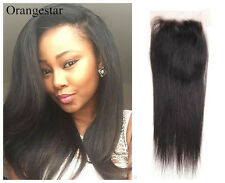 Remy Virgin Indian Human Hair Extensions Lace Closure Top Front Free Shipping