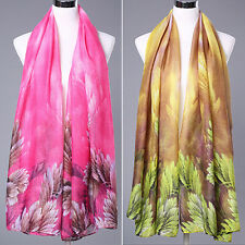 Women's Fashion Scarf Long Echarpe Leaves Printed Stole Shawl Wrap Glorious