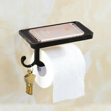 Vintage Bathroom Bronze Embossing Wall Mounted Roll Paper Rack with Phone Holder
