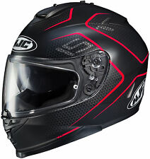 HJC IS-17 Full Face Motorcycle Helmet Lank Graphic Flat Red Free Size Exchange
