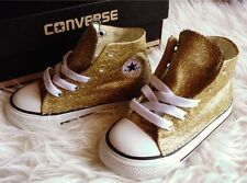 Baby Toddler Custom Gold Glitter Handmade Converse Shoes