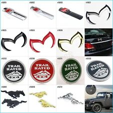 For Jeep 4x4 Trail Rated Audi Sline Mazda Badge M 3D Emblem Car Front Rear Decal