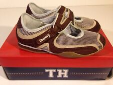 NWB YOUTH GIRL'S TOMMY HILFIGER GIRL MULTIPLE SIZES BROWN BLUE TENNIS SHOES *320