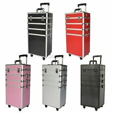 Makeup Beauty Cosmetic Hairdressing Nail 4in1/3 Drawers Vanity Case Box Trolley