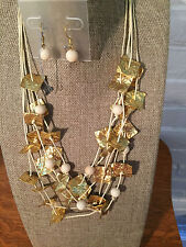 Designer VCLM Costume Jewelry necklace and earring set