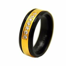 "Tungsten wedding band "" FREE ENGRAVING "", Gold Plated tungsten ring, Tungsten"