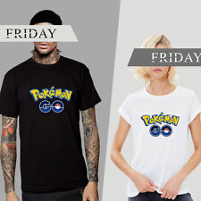 Mens/Womens Summer T-shirt Pokemon Go Short-Sleeved Casual Tops Tees Funny Print