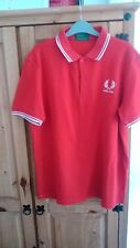 Red England Fred Perry polo shirt L