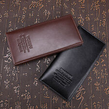 Men's Long Leather Wallet Pockets Money Purse ID Credit Card Clutch Slim Bifold