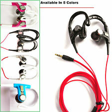 HEADPHONES OVER IN EAR SPORTS HOOK EARPHONES FOR RUNNING GYM HTC SAMSUNG SPORTS