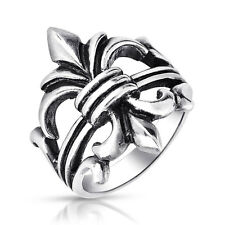 Bling Jewelry Sterling Silver Fleur de Lis Antique Style Ring