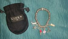 Genuine Links Of London Sweetie Bracelet With 6 Charms